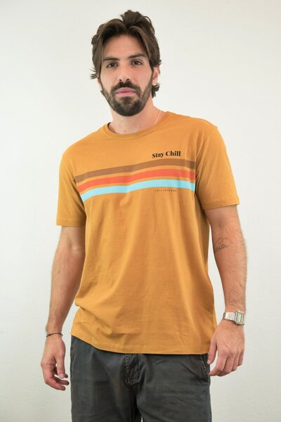 T-shirt Stay Chill Caramelo