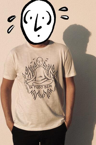 T-shirt Suadinho Silk Off White Flamê