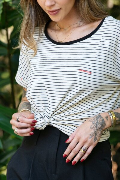Tee Thin Stripes White