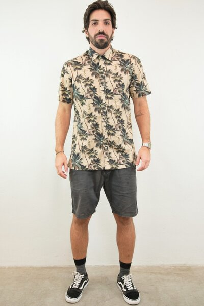 Camisa Masculina Estampada Hula Skull