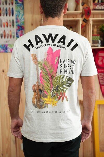T-shirt Hawaii Série ao Fundo 2019