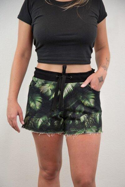 Shorts de Moletom Folhagem W