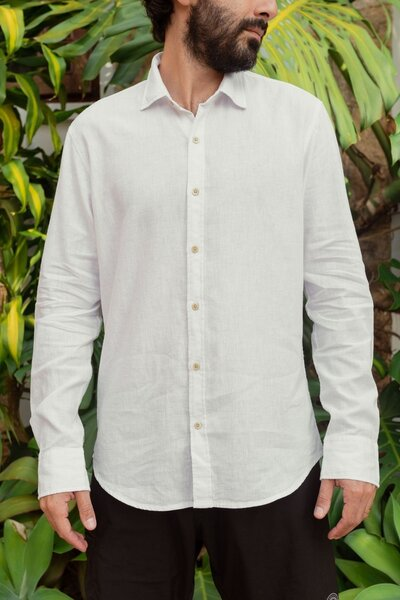 Camisa Masculina Linho Soft