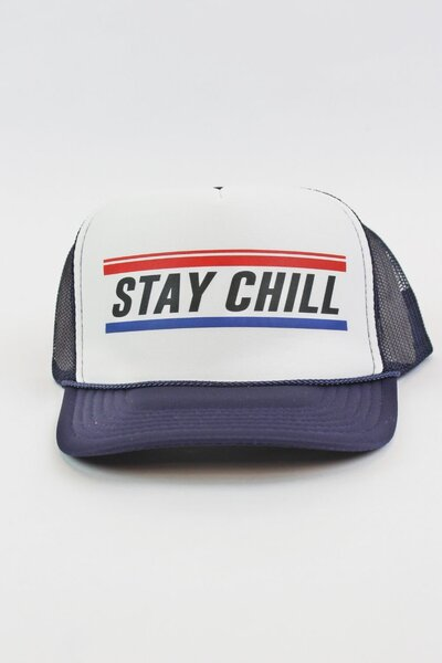 Boné Trucker Stay Chill Blue