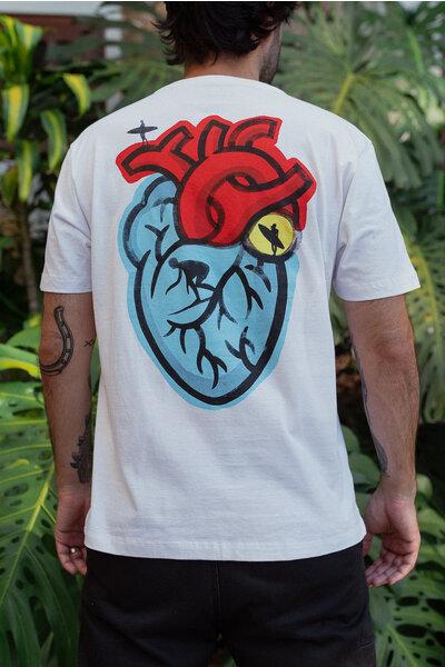 T-shirt Surfer Heart Marcello Serpa White