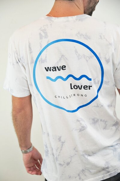 T-shirt Tie Dye Wave White