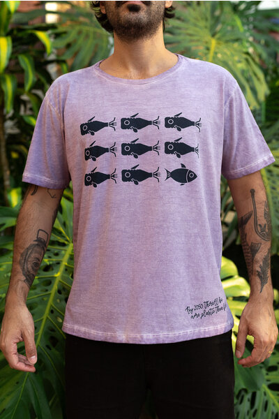 T-shirt 2050 Purple Stoned