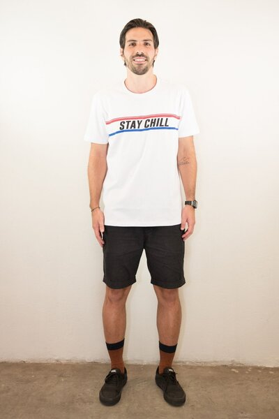 T-shirt Stay Chill White Mens