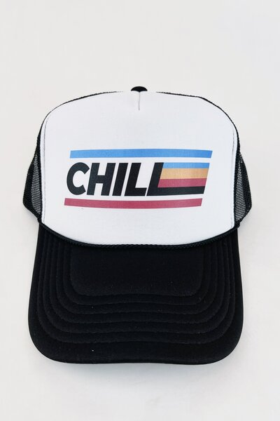 Boné Trucker Chill Colors Black