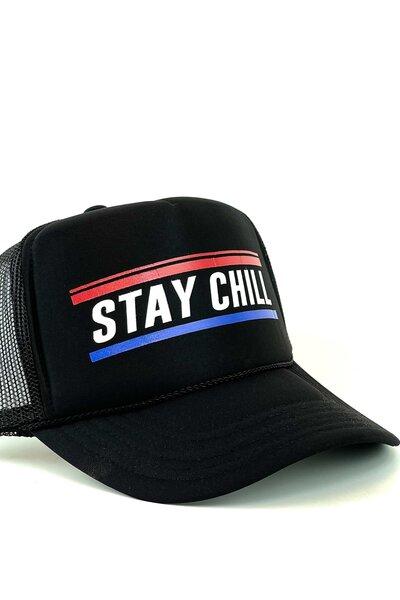 Boné Trucker Stay Chill All Black