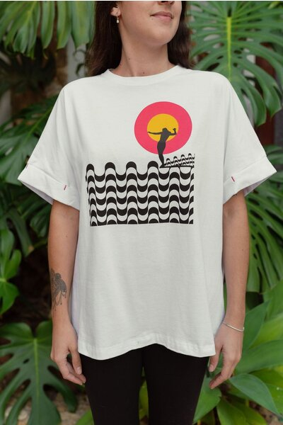 T-shirt Rio White Feminina Marcello Serpa