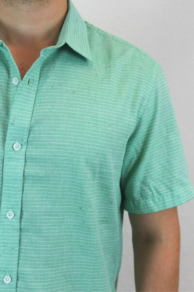 Camisa Masculina Green Basic