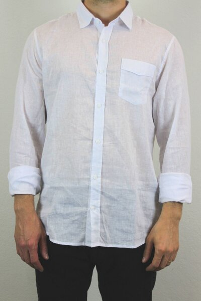 Camisa Masculina Linho White