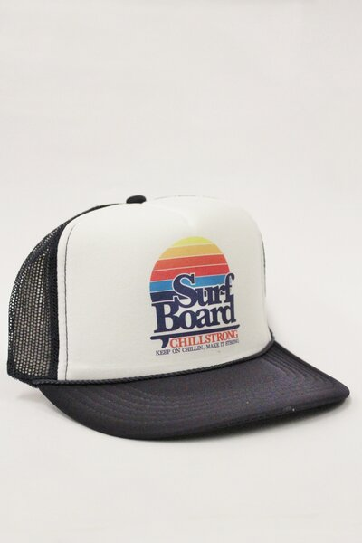 Boné Trucker Surfboard Marine