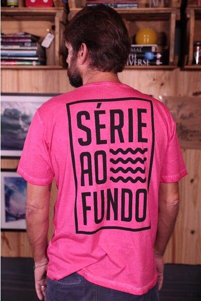 T-shirt Série Ao Fundo Pink Stoned