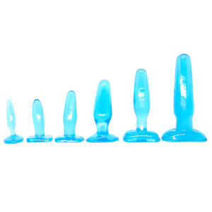 Kit Blue Collection com 6 Plugs Anais de Silicone