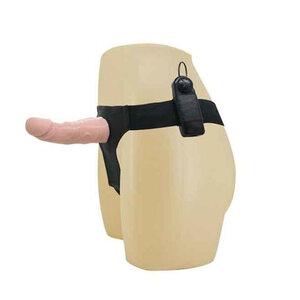 Capa Peniana com Cinta Ultra Passionate Harness com Vibrador 15 cm x 4,5 cm