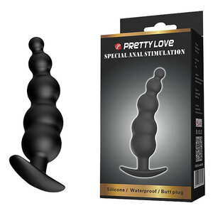 Plug Anal Escalonado Stimulation Pretty Love em Silicone