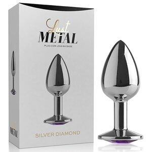 Plug Anal em Metal com Joia na Ponta 7 cm x 2,7 cm - Coleção Lust Metal