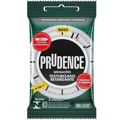 Preservativo Prudence Texturizado Retardante 4 em 1