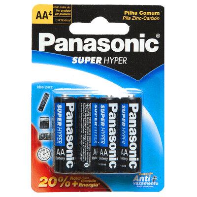 Pilha Panasonic Super Hyper Modelo Pequena AA
