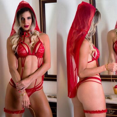 Fantasia Body de Chapeuzinho Vermelho