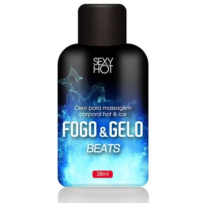 Óleo Beijável para Massagem Fogo & Gelo Bebida Beats 38ml