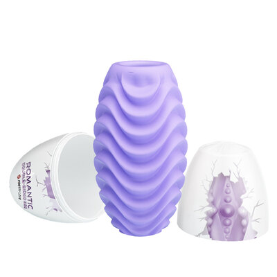 Masturbador Egg Romantic Double Side Purple Texturizado