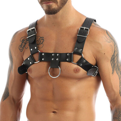 Harness Arreio Masculino Peitoral em Couro