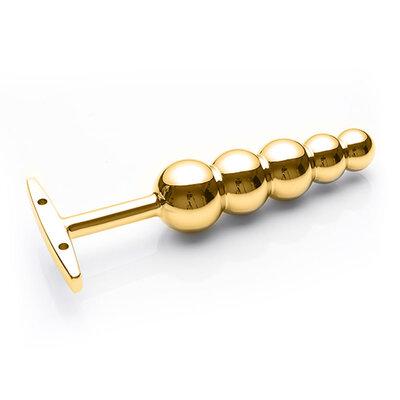 Lust Metal - Plug Punch Anal Dourado em Formato Anatômico 15,3 cm x 6,5 cm