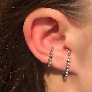 Brinco Ear Hook Silver Semijóia