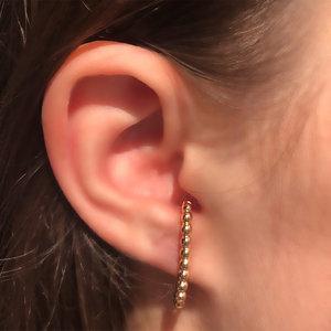 Brinco Ear Hook Gold Semijóia