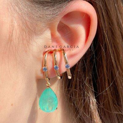 Brinco Ear Hook Gota Colombiana Dourado
