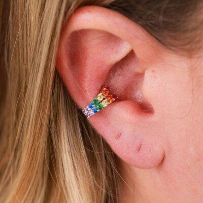 Falso Piercing Rainbow Prata 925