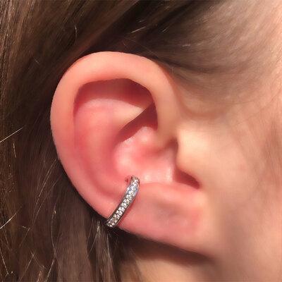 Falso Piercing Silver Cravação Semijóia