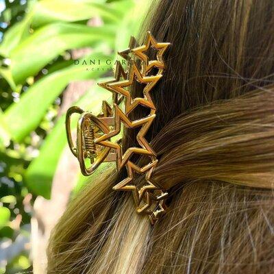 Piranha Metal Estrelas Dourada