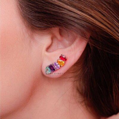 Ear Cuff Colors Prata 925