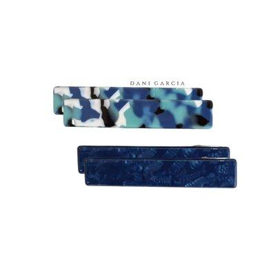 Kit 2 Pares Bico de Pato Acetato Azul