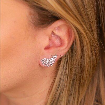 Brinco Ear Cuff Princesa Prata 925