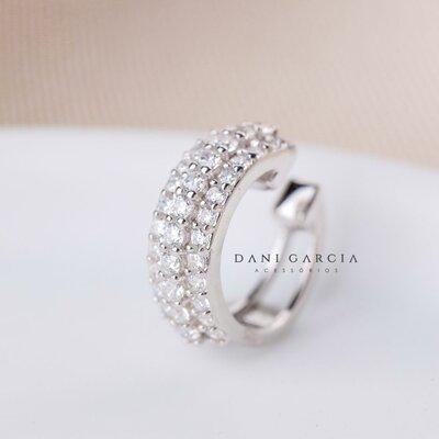 Falso Piercing Diana Prata 925