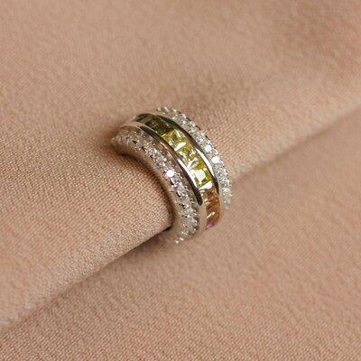 Falso Piercing Colors e Fileira Zircônias Prata 925