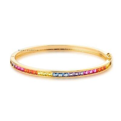 Bracelete Rainbow Banho de Ouro 18 K