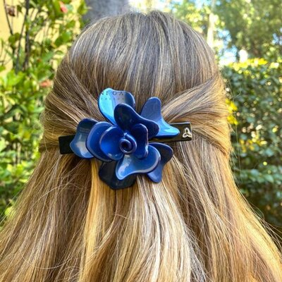 Presilha Flor Azul G Acetato