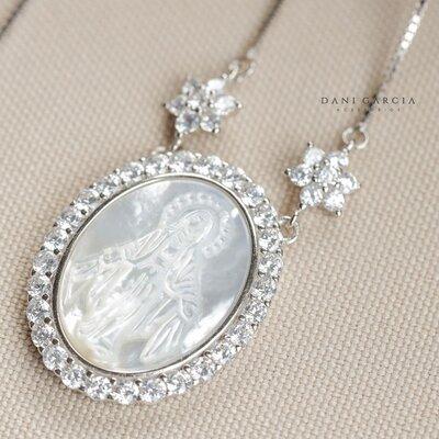 Colar Medalha Nossa Senhora das Graças Prata 925