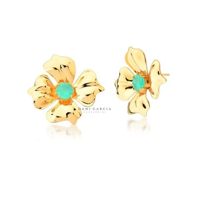 Brinco Flor Dourada Colombiana