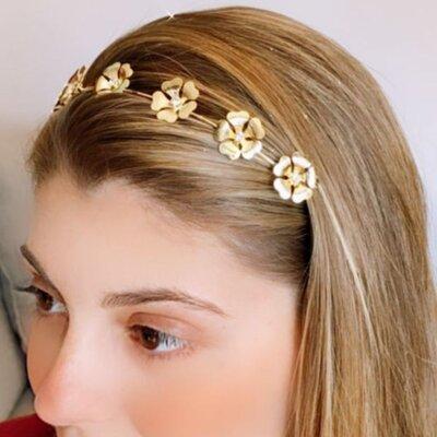 Tiara Metal Flores