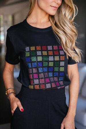T-Shirt Código Cristais Coloridos