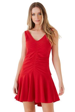 Vestido Decote V Drape Lucinda