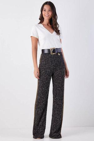 Calça Pantalona Boucle Vivo Dourado