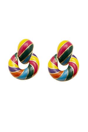 Brinco Rosca Rainbow - Collab Maria Braz para Rosana Bernardes